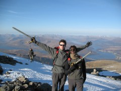 Winter walking on Ben nevis