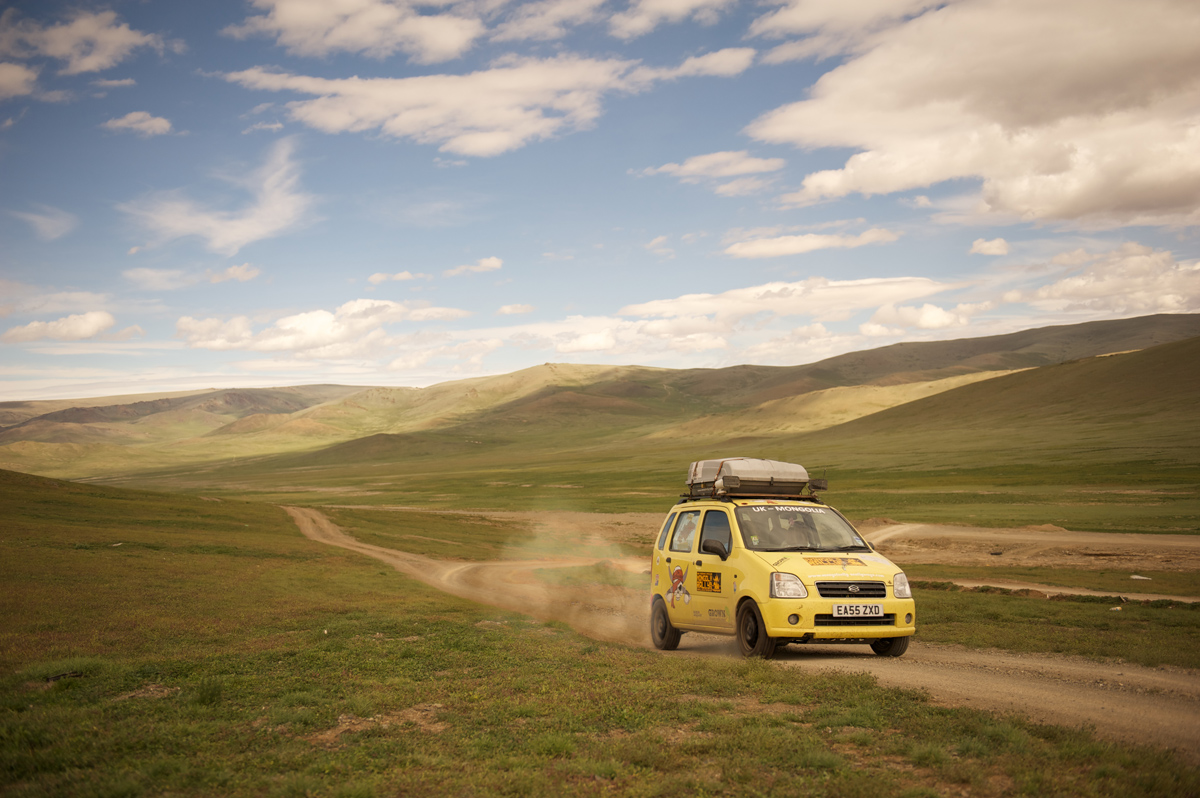 Mongol Rally Suzuki Wagon Mongolia Landscape